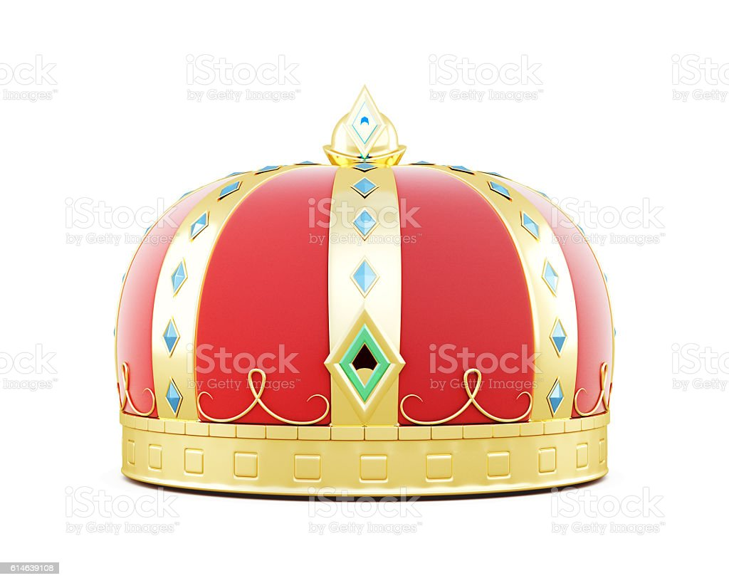 3d illustration of a royal crown. stock photo