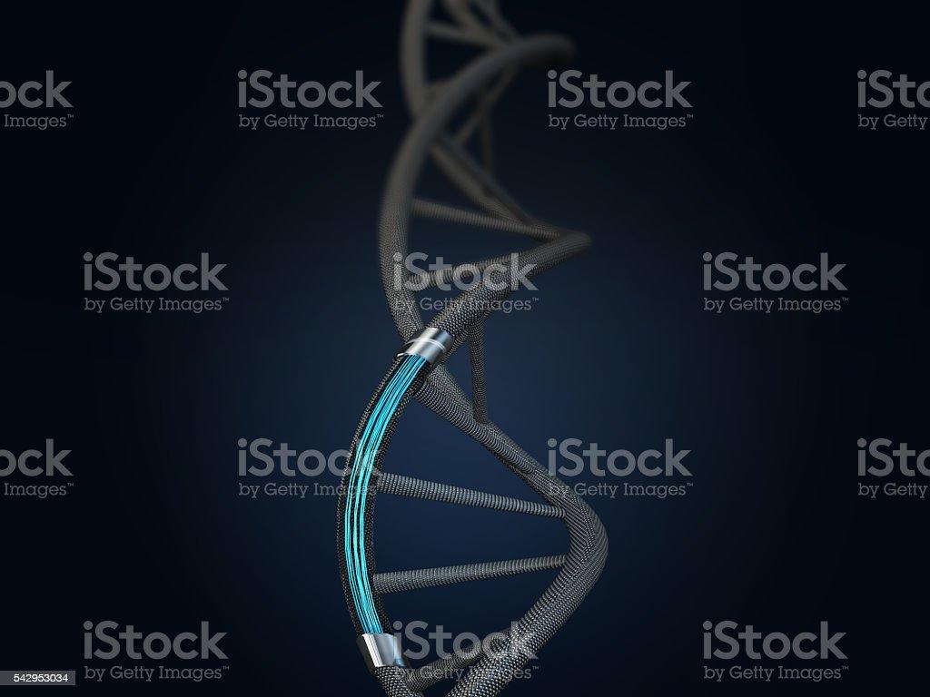 3d illustration of artificial DNA molecule stock photo