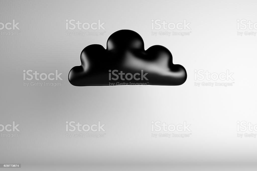3d illustration of black speech bubble stock photo