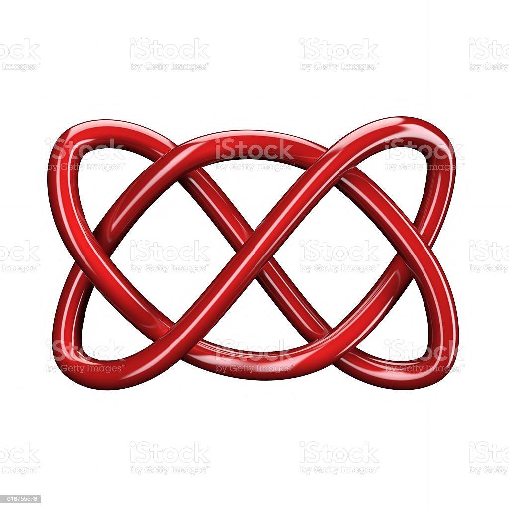 3d illustration of Celtic knot stock photo