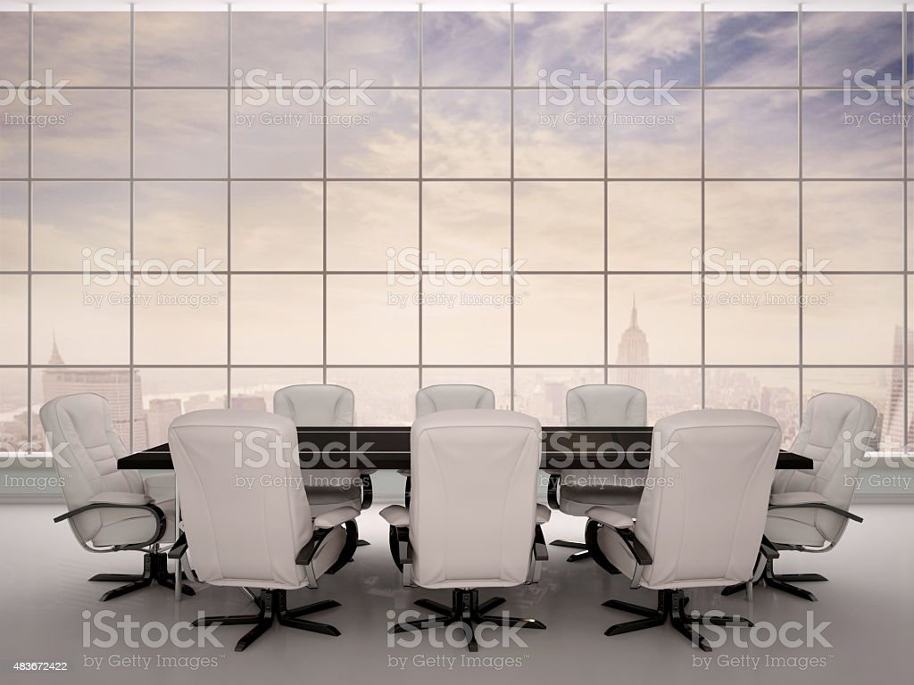 3d illustration of Conference room. stock photo