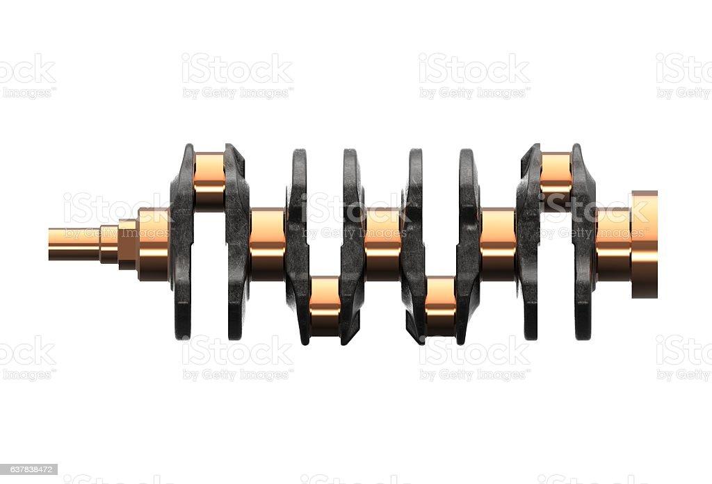 3d illustration of crankshaft stock photo