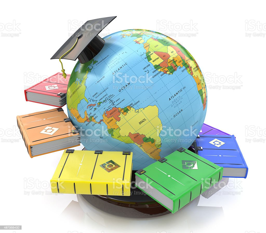 3d illustration of Education stock photo