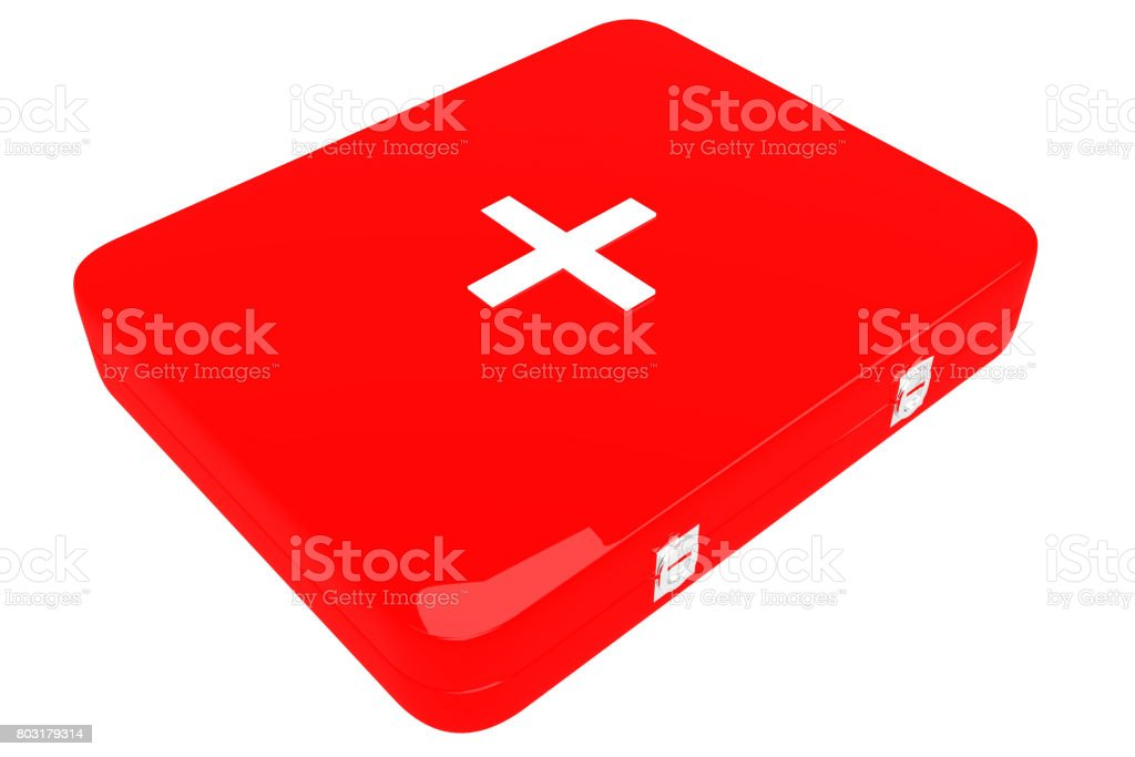 3d illustration of first aid kit stock photo