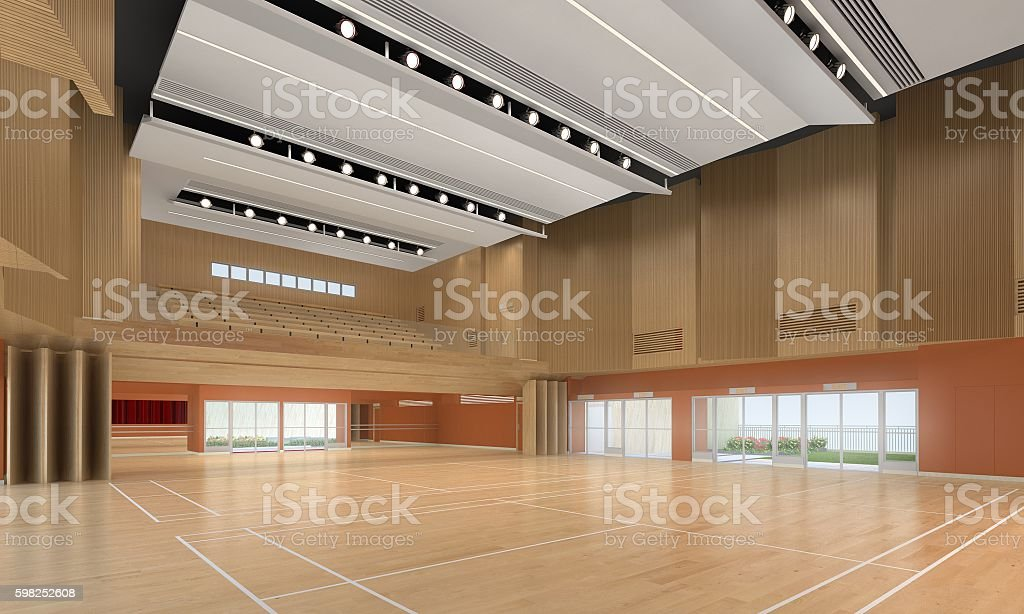 3d illustration of indoor stadium stock photo