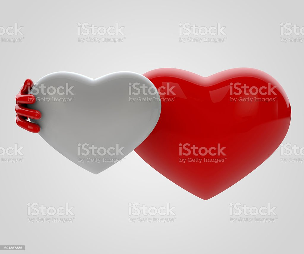 3d Illustration of lovely hearts stock photo