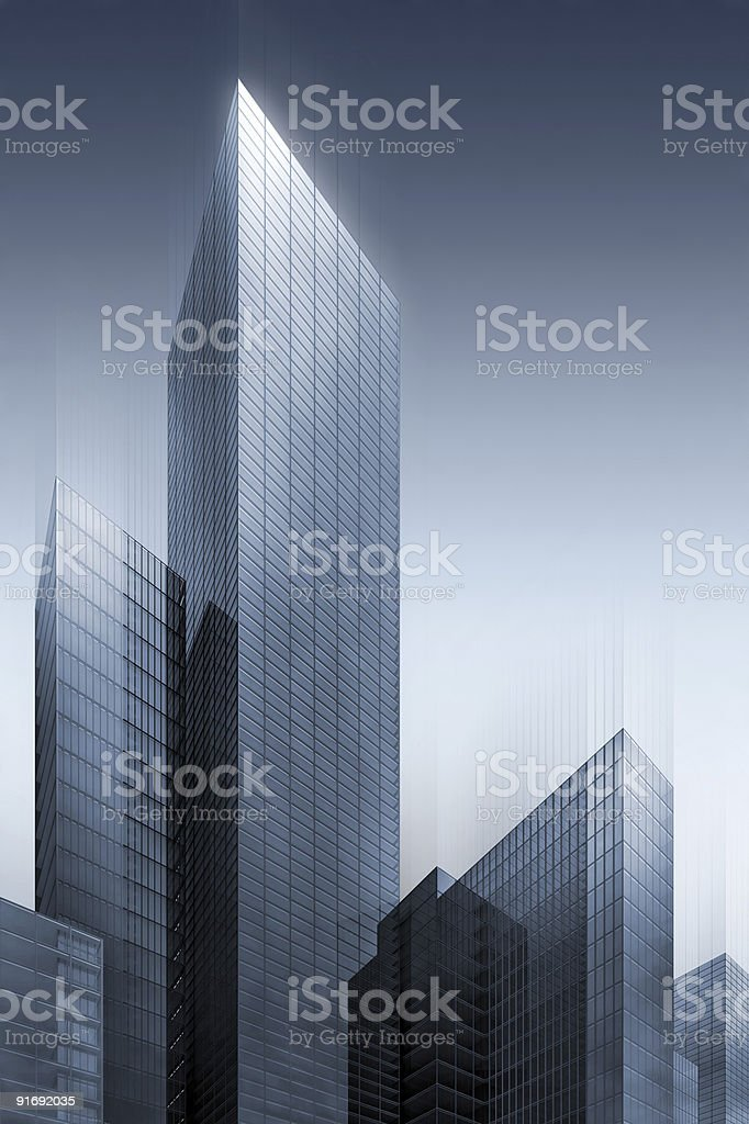 3d illustration of office skyscrapers royalty-free stock photo