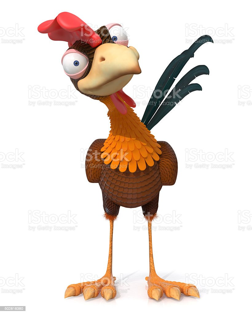 3d illustration rooster stock photo