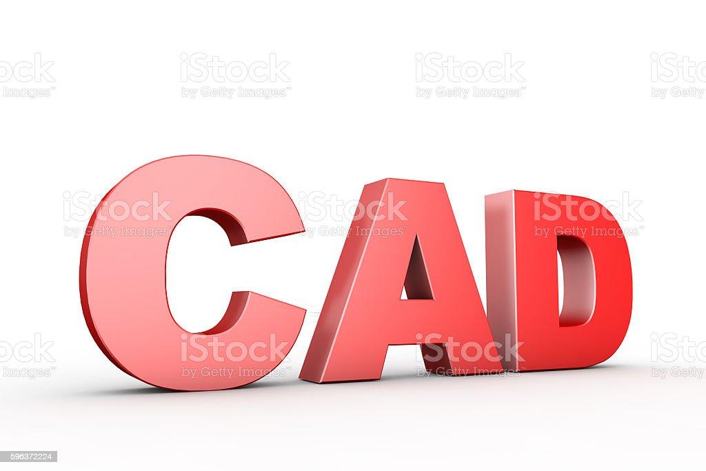 3d Illustration Sign Cad Stock Photo 596372224 Istock
