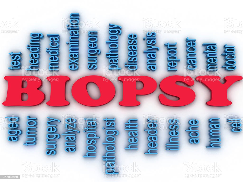 3d imagen Biopsy concept word cloud background stock photo