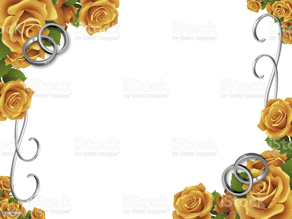 3d imagen by wedding frame royalty-free stock photo