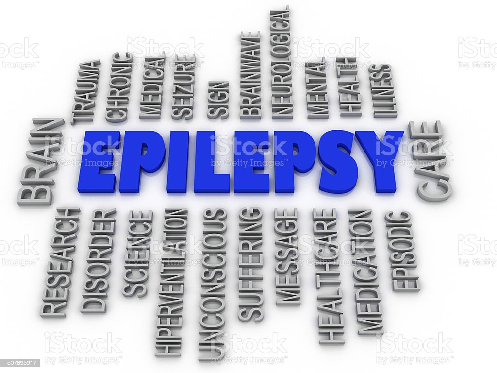 3d imagen, Epilepsy symbol. Neurological disorder icon conceptua stock photo