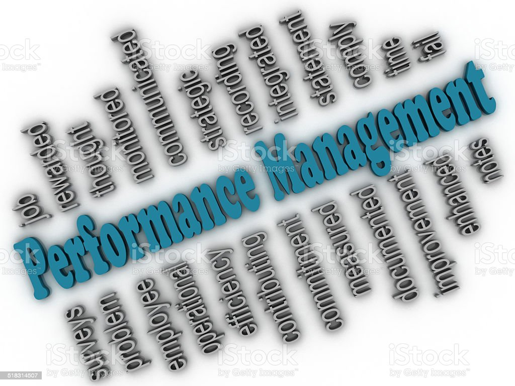3d imagen Performance Management concept word cloud background stock photo