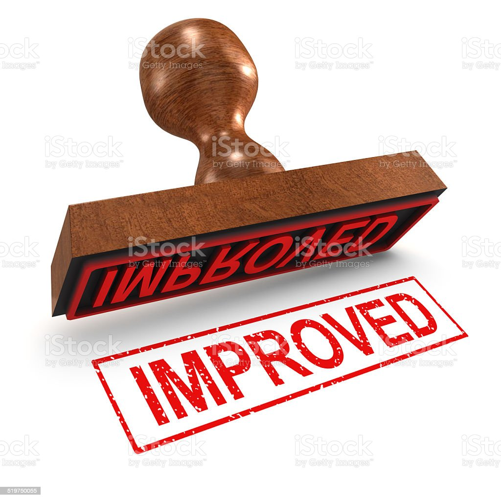 3d Improved rubber stamp stock photo