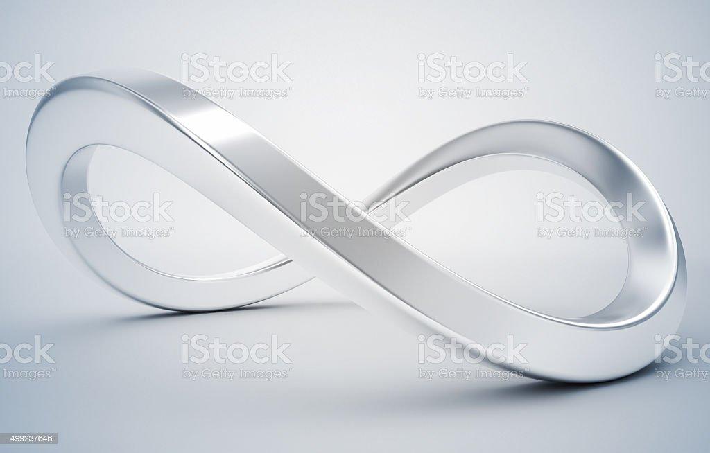 3d infinity symbol stock photo