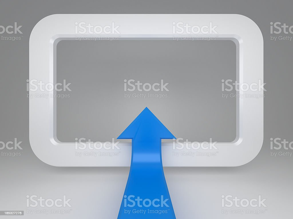 3d information arrow concept background royalty-free stock photo