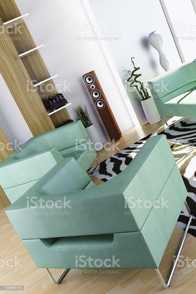 3d Interior royalty-free stock photo