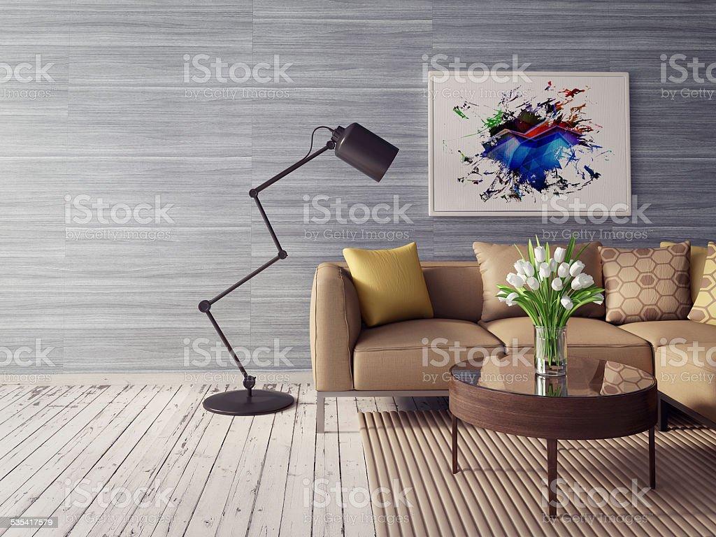 3d interior stock photo
