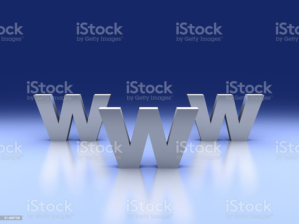3d internet concept. Monument WWW. royalty-free stock photo