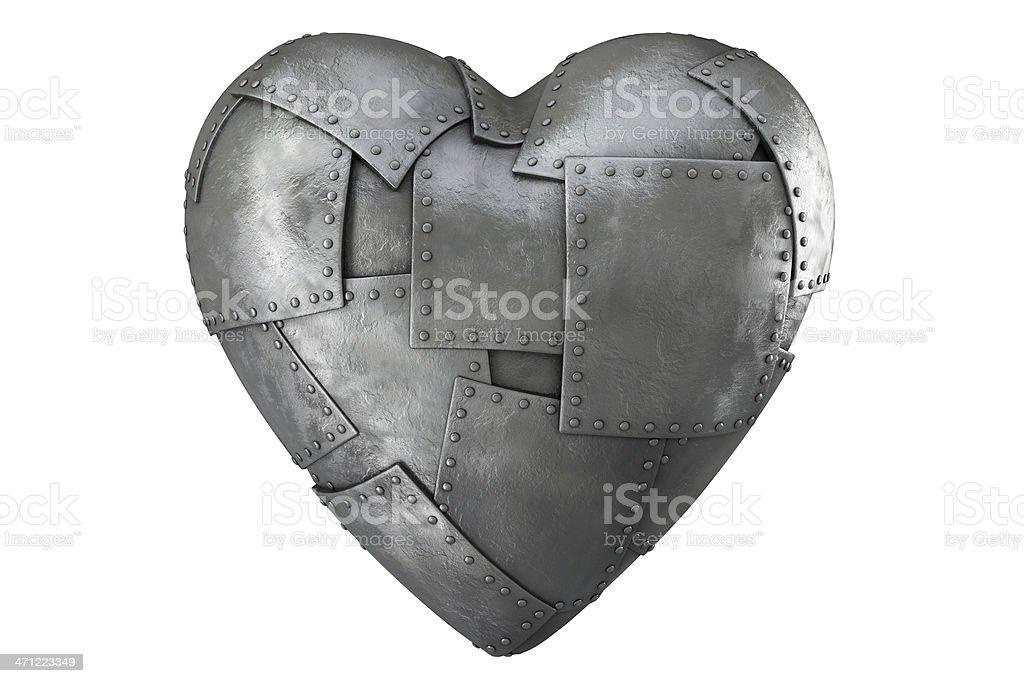 3d iron-clad heart stock photo