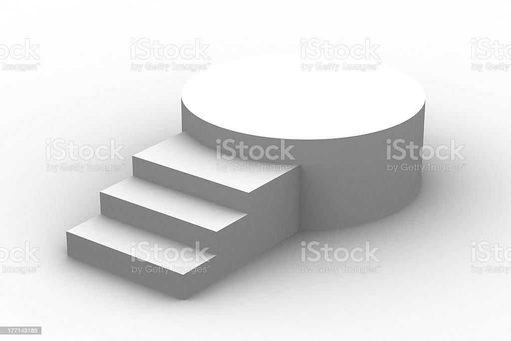 3d isolated Empty white podium royalty-free stock photo