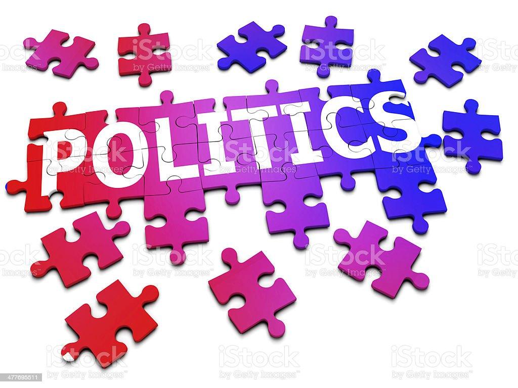 3d Jigsaw puzzle 'Politics' royalty-free stock photo