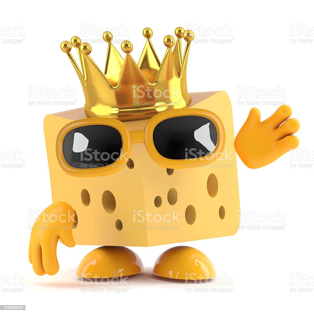 3d King cheese royalty-free stock photo