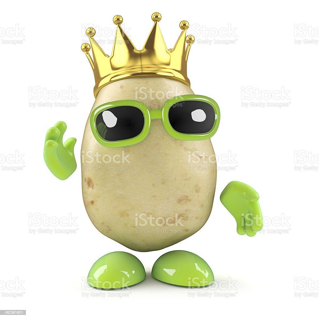 3d King potato stock photo