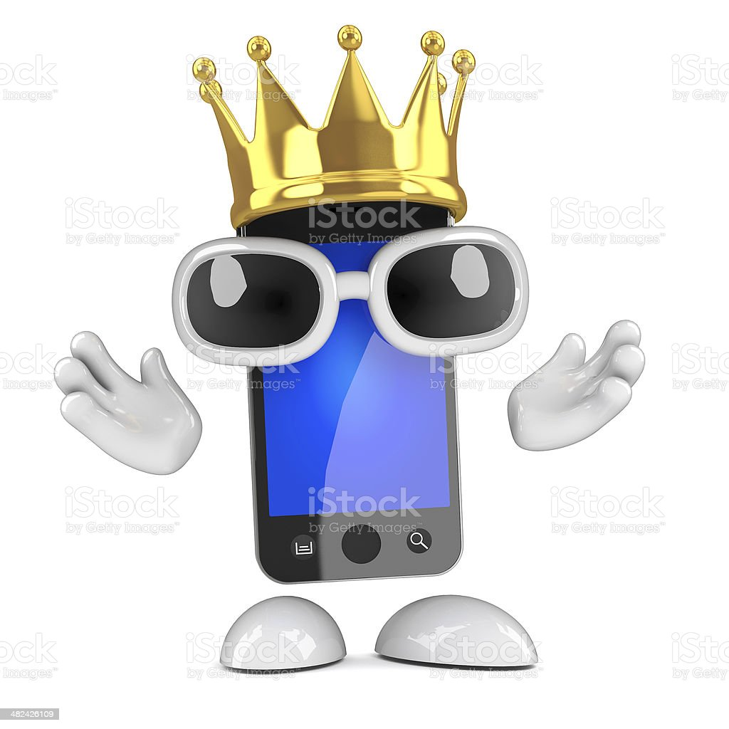 3d King smartphone royalty-free stock photo