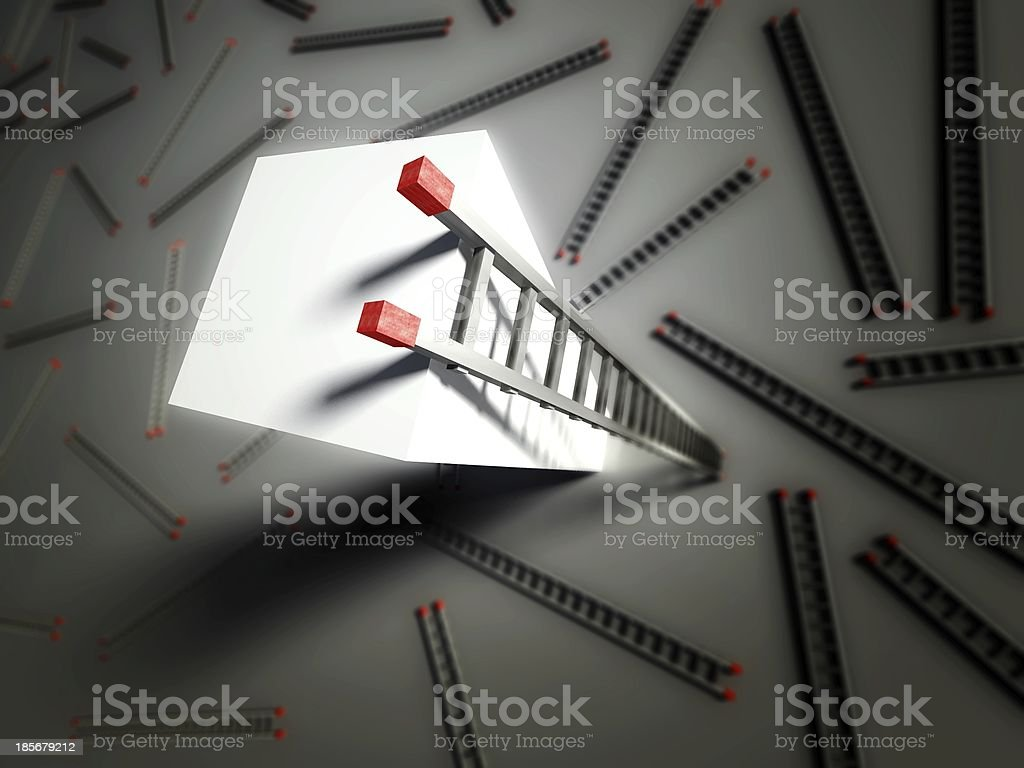 3d ladder of success and competition royalty-free stock photo