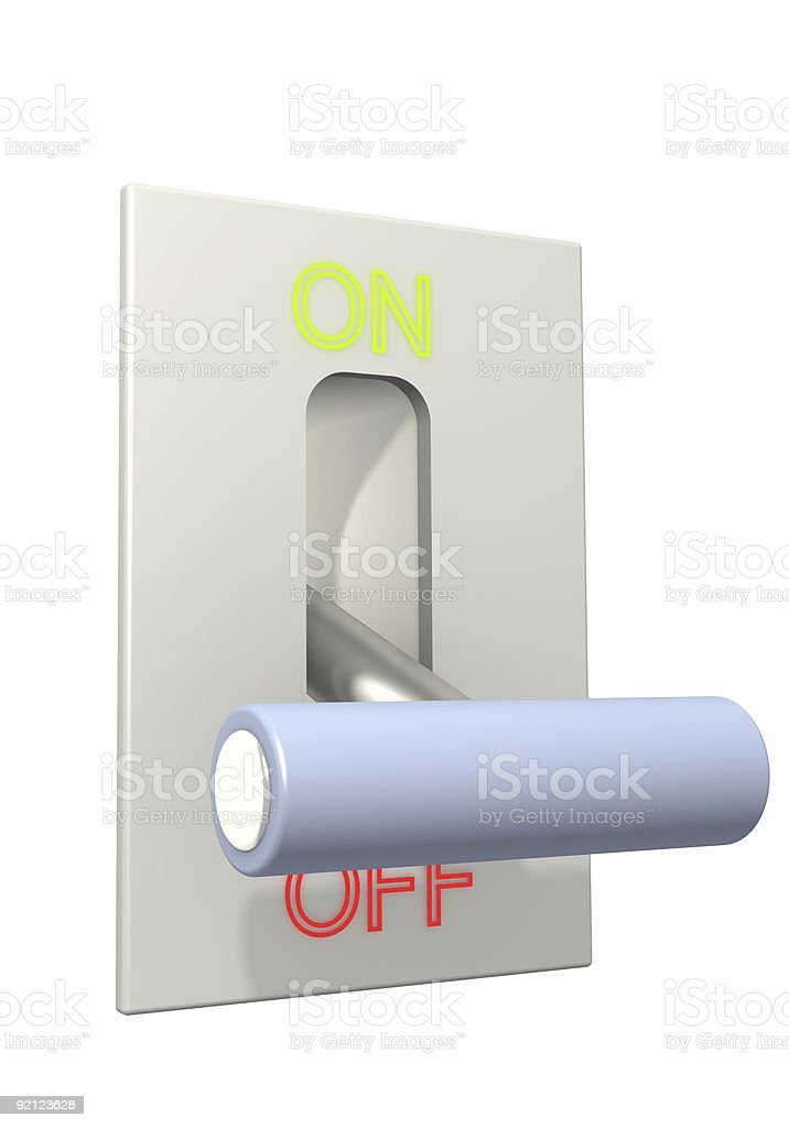 3d lever on position off royalty-free stock photo