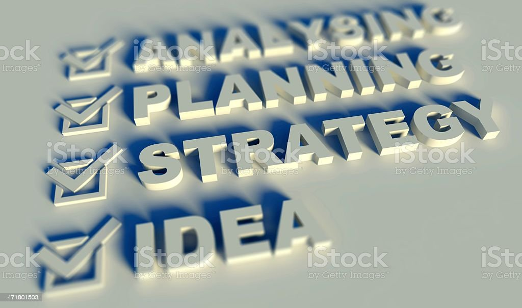 3d list of business terms royalty-free stock photo