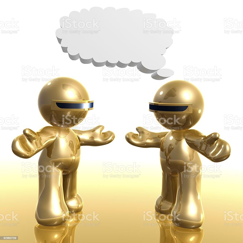 3d little icon chatting comical balloon royalty-free stock photo