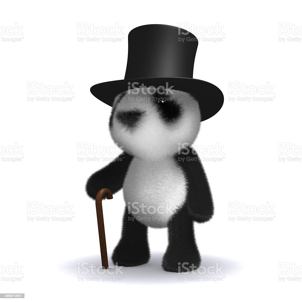 3d Lord panda stock photo