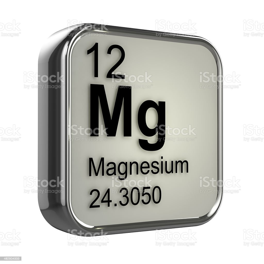 3d Magnesium element stock photo