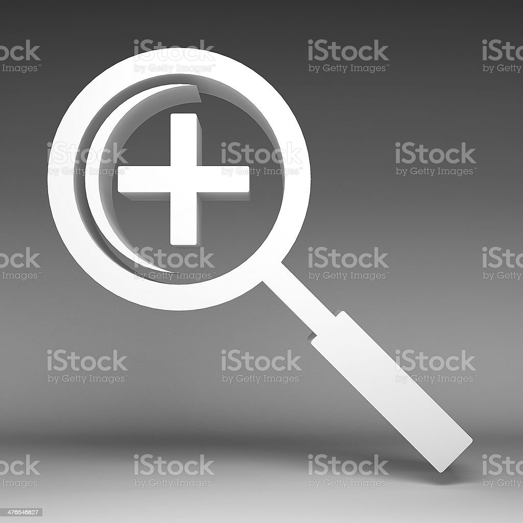 3d Magnifying glass icon royalty-free stock photo