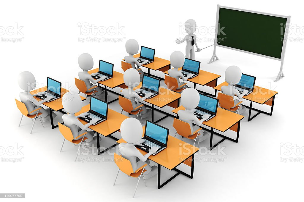 3d man, - classroom royalty-free stock photo