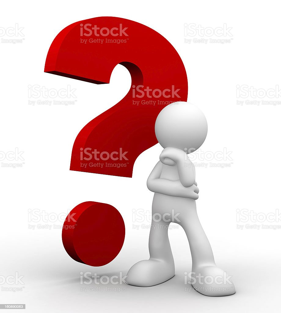 3d man, complicated question royalty-free stock photo