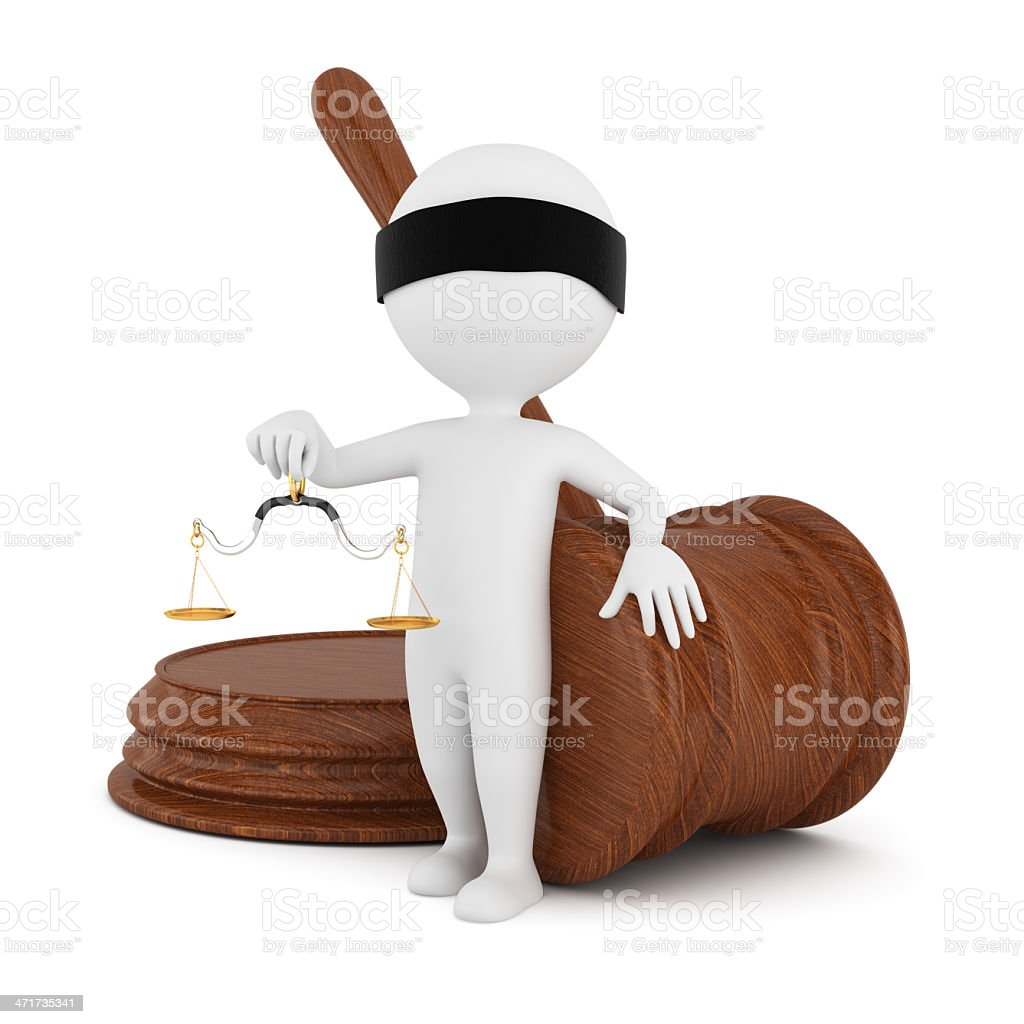 3d man with gavel and scales royalty-free stock photo