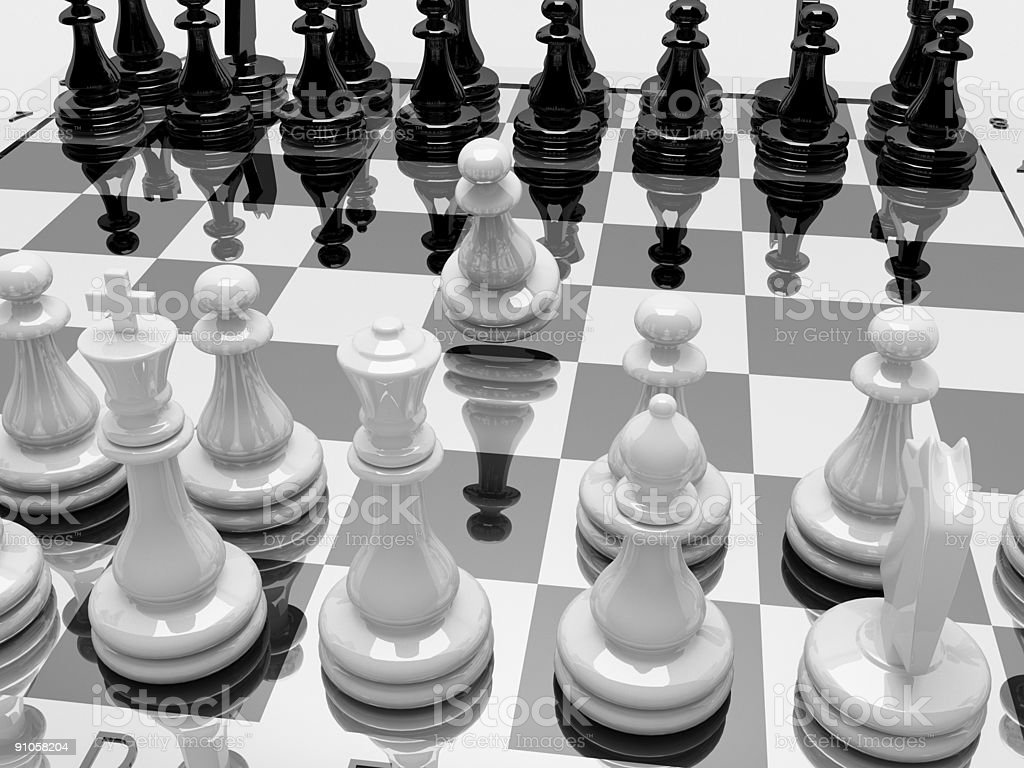 3d marble chess royalty-free stock photo