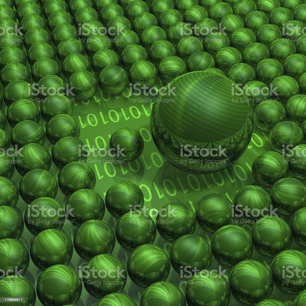 3d matrix balls royalty-free stock photo