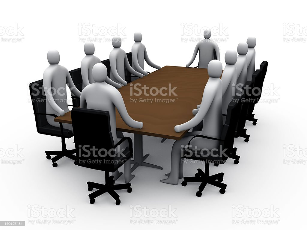 3d meeting room #1 royalty-free stock photo