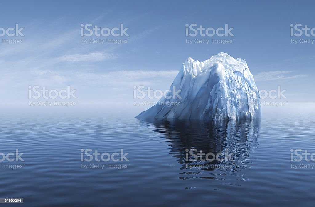 3d melting Iceberg stock photo