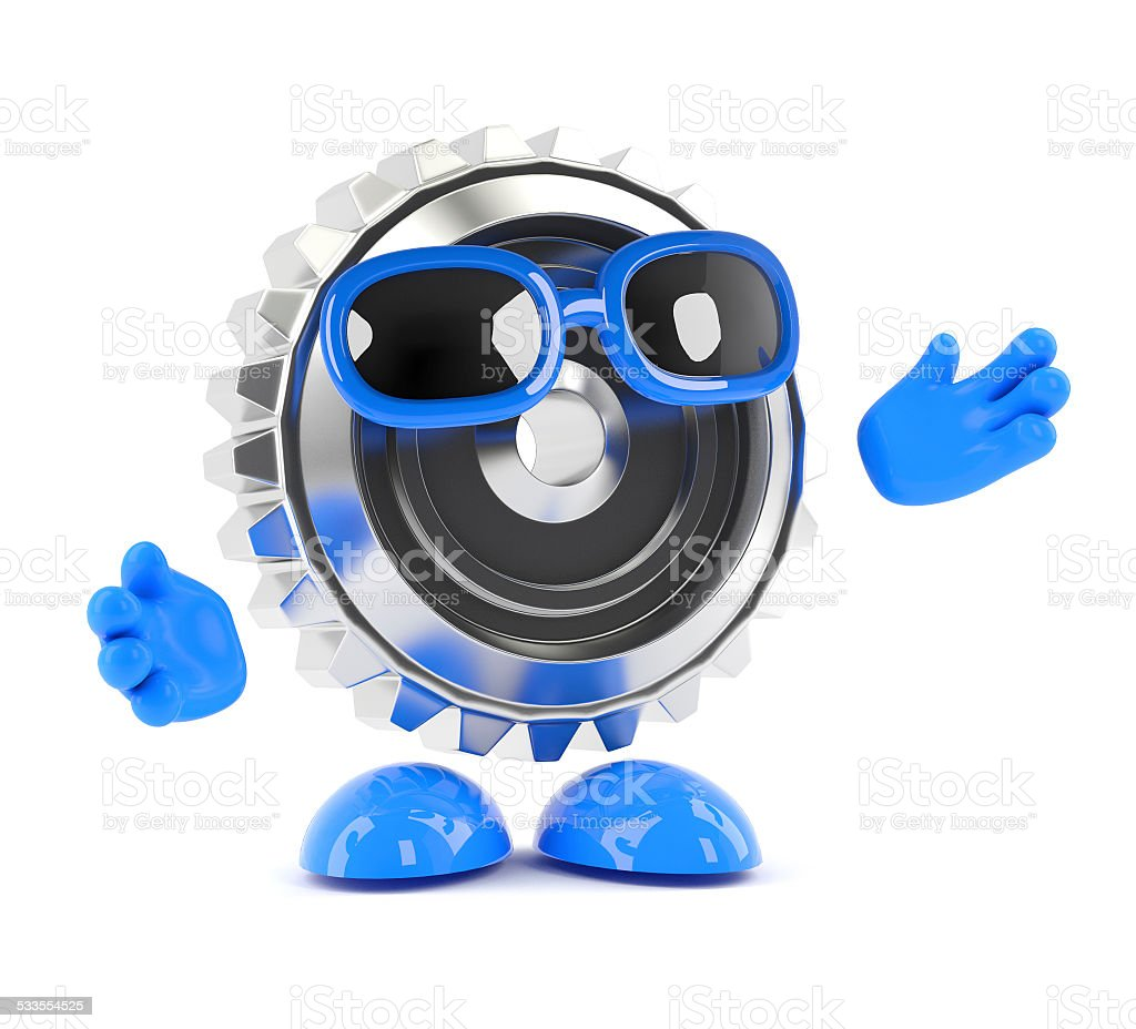 3d Meta cog is open to suggestions stock photo