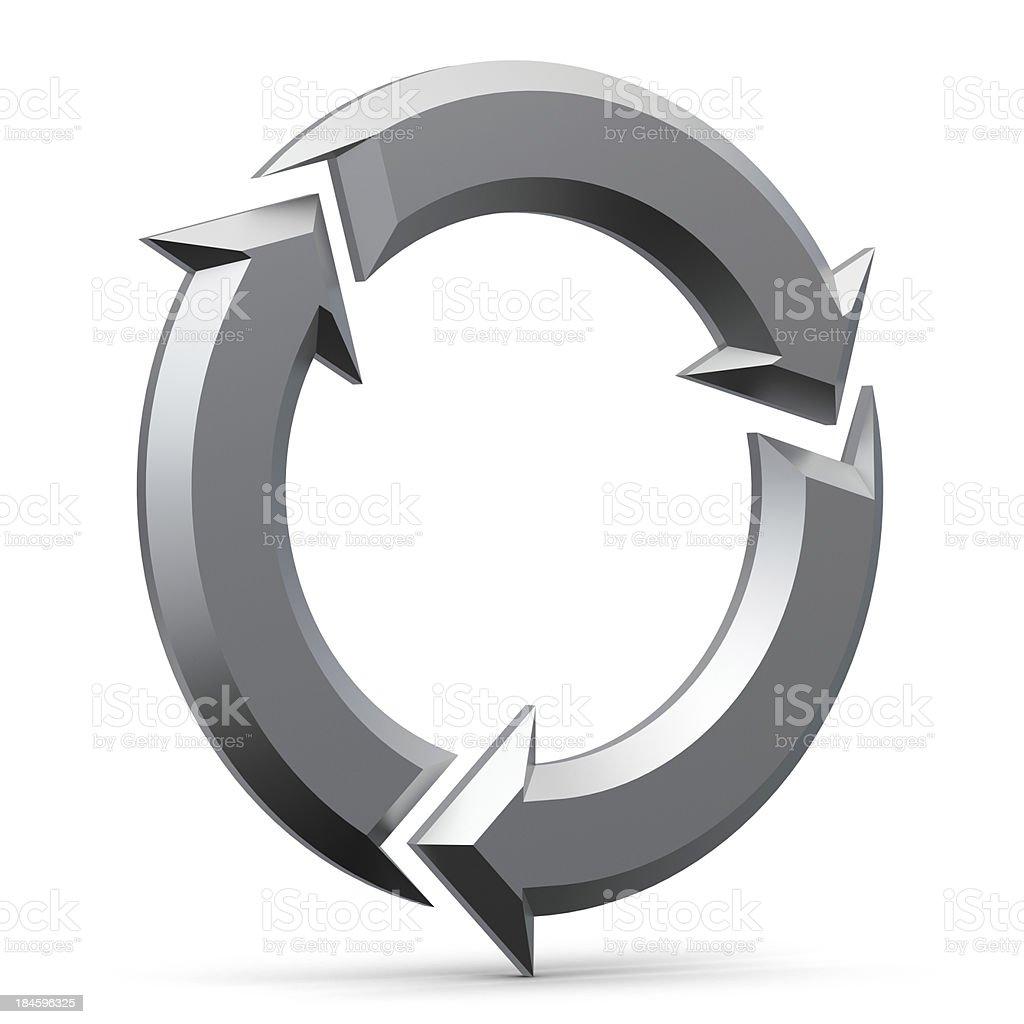 3d metal arrows stock photo
