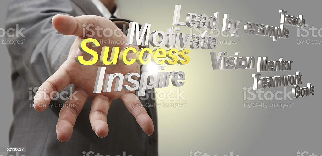 3d metallic success diagram as concept royalty-free stock photo