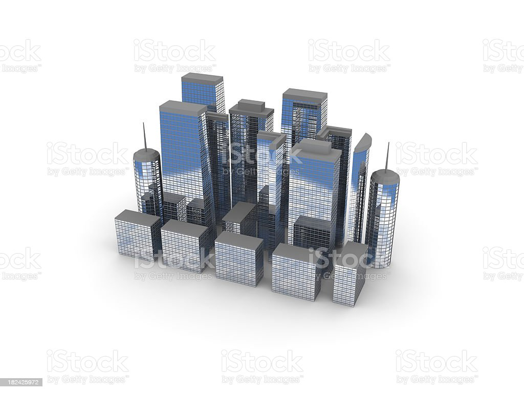 3d model city skyline stock photo