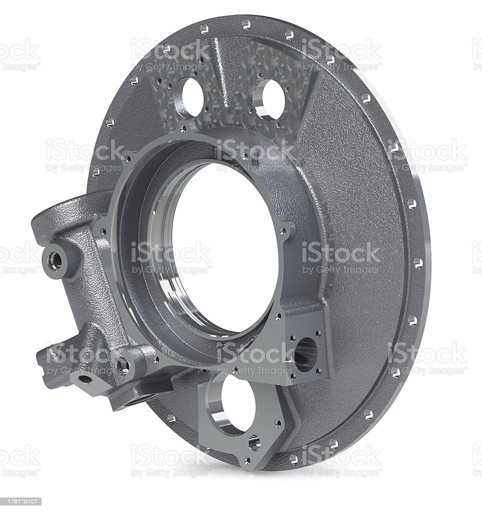 3d model of a defunct industrial parts stock photo