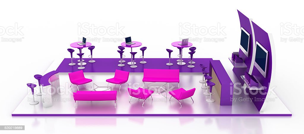 3d model of an empty lounge bar stock photo