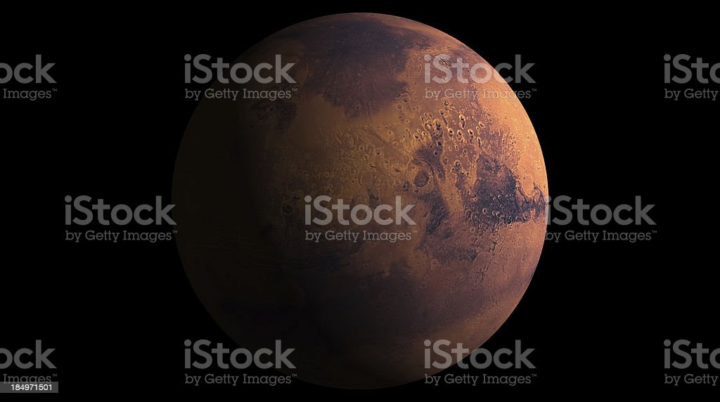 3d Model of Mars stock photo